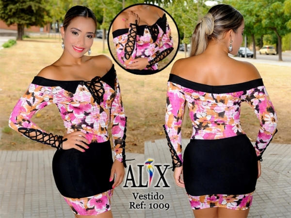 db041eb5c Vestido Colombiano estampado. Vestidos Colombianos Modelos atractivos con colores  llamativos ...