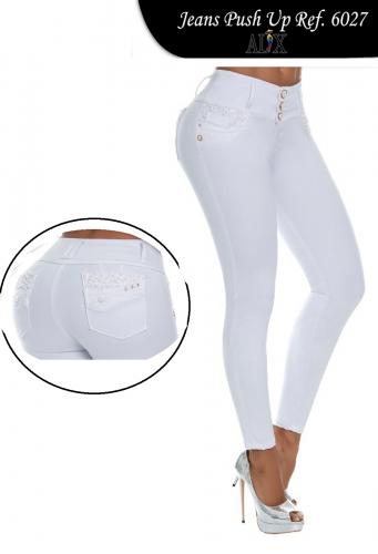 191277038b5d6 Jeans Levanta Cola Blanco